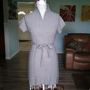 Sweater project gray s/s sweater dress